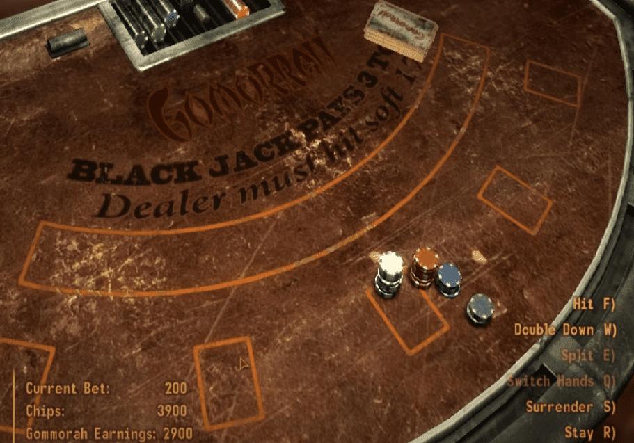 Fallout New Vegas casino table