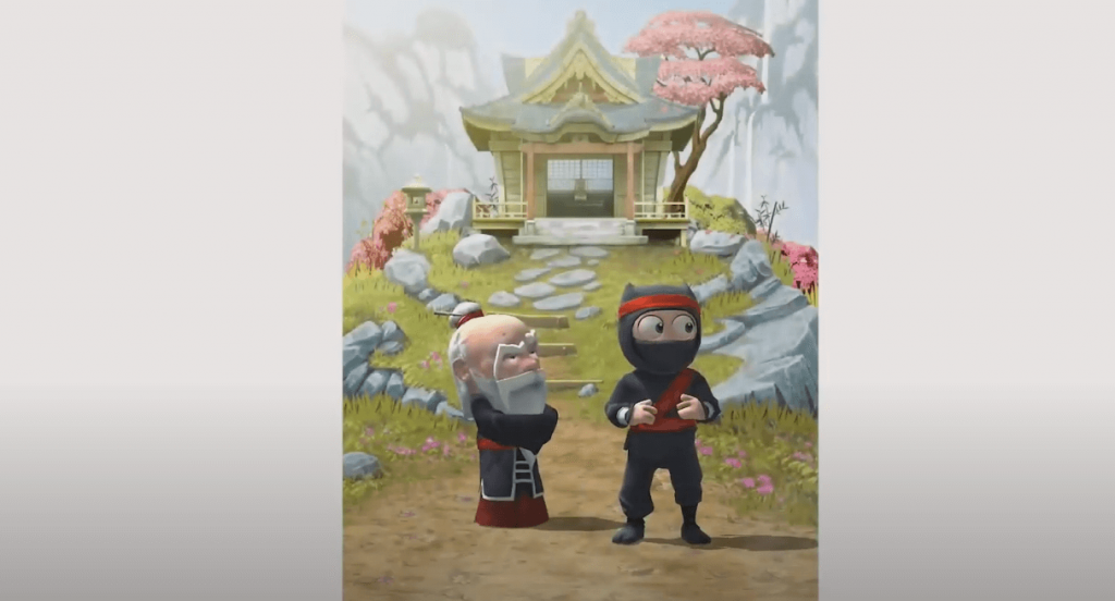Clumsy Ninja Android gameplay