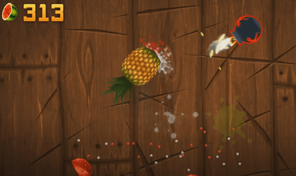Fruit Ninja gameplay on Android